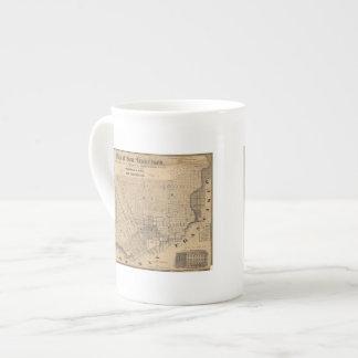 Mapa de San Francisco Taza De Porcelana
