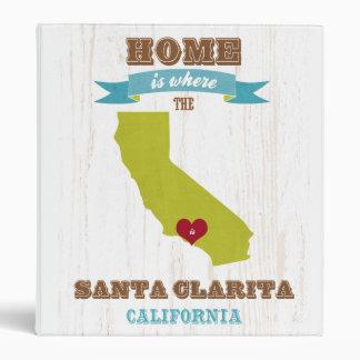 Mapa de Santa Clarita California - casero está do