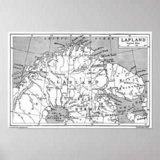 Mapa de Sapmi (1906) Póster