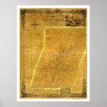 Mapa de Saratoga Springs, Nueva York por Bevan 185 Posters