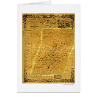 Mapa de Saratoga Springs, Nueva York por Bevan Tarjeta De Felicitación