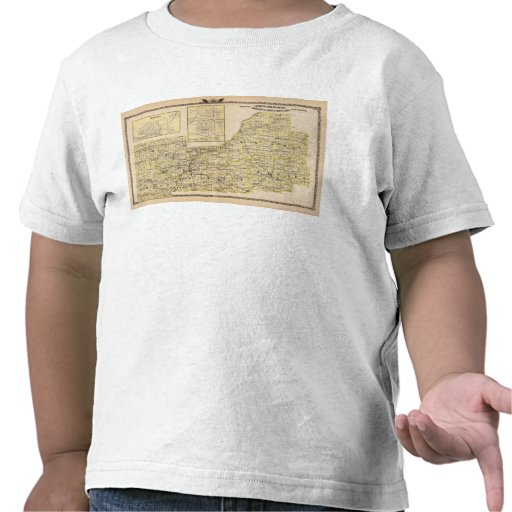 Mapa de Schuyler, albañil, Brown Camisetas