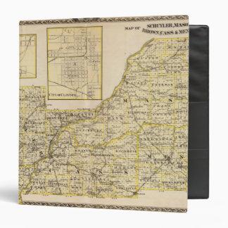 Mapa de Schuyler, albañil, Brown
