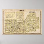 Mapa de Schuyler, albañil, Brown Posters