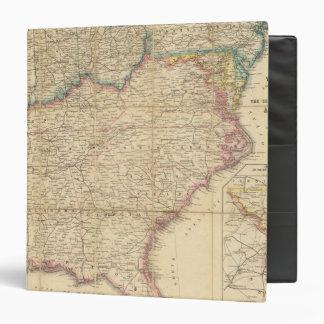 Mapa de Seat de la guerra civil en América