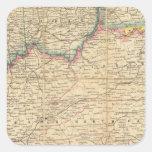 Mapa de Seat de la guerra civil en América Calcomania Cuadradas