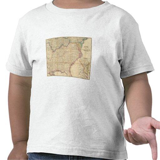 Mapa de Seat de la guerra civil en América Camisetas