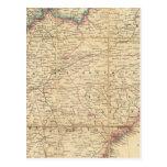 Mapa de Seat de la guerra civil en América Postal