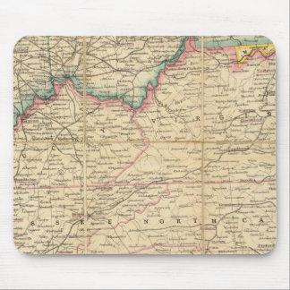 Mapa de Seat de la guerra civil en América Alfombrillas De Ratón