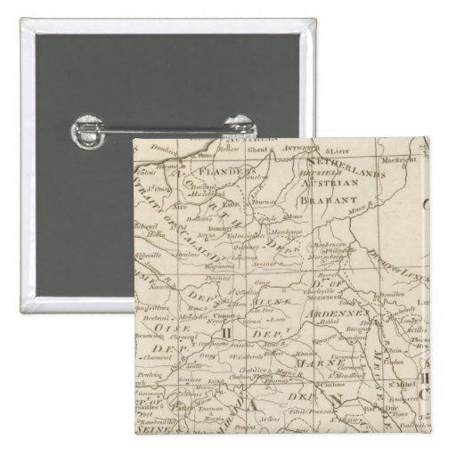 Mapa de Seat de la guerra en Francia 2 Pins
