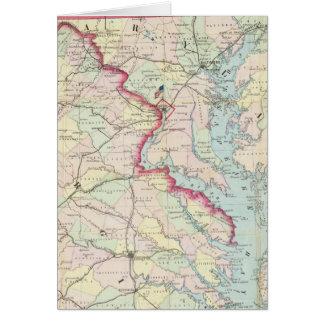 Mapa de Seat de la guerra Tarjeta De Felicitación