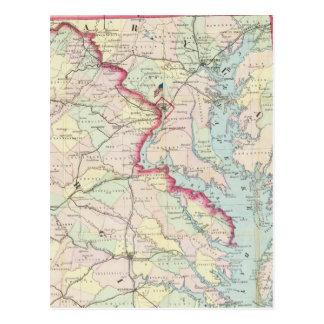 Mapa de Seat de la guerra Tarjetas Postales