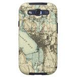 Mapa de Seattle del vintage Samsung Galaxy S3 Carcasa