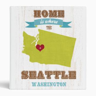 Mapa de Seattle Washington - casero es donde