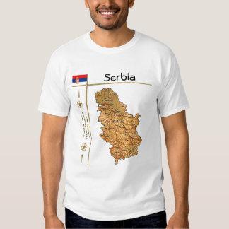 Mapa de Serbia + Bandera + Camiseta del título Camisas