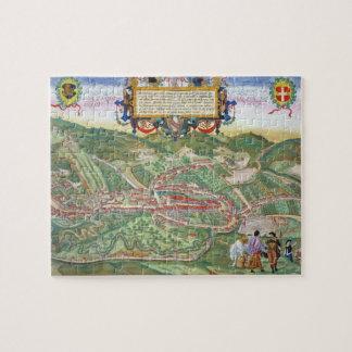 Mapa de Serravalle, de 'Civitates Orbis Terrarum Puzzle