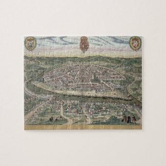 """Mapa de Sevilla, de """"Civitates Orbis Terrarum"""" cer Puzzles Con Fotos"""