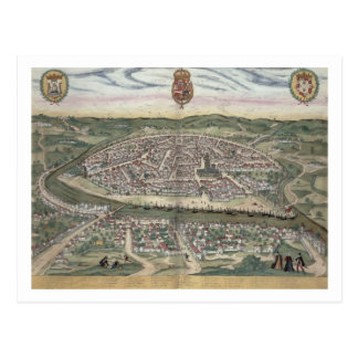 """Mapa de Sevilla, de """"Civitates Orbis Terrarum"""" Tarjetas Postales"""