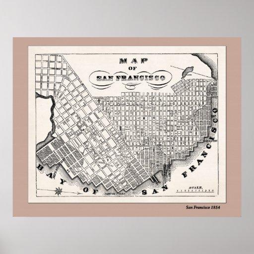 Mapa de SF a partir de 1854 Impresiones