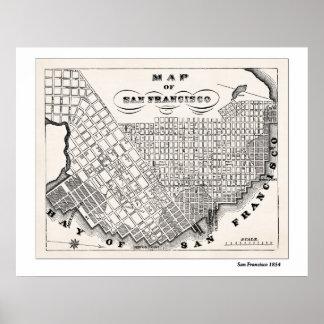 Mapa de SF a partir de 1854 Posters