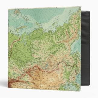 Mapa de Siberia con las rutas de envío
