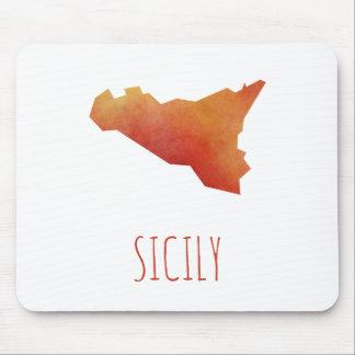 Mapa de Sicilia Tapetes De Ratón