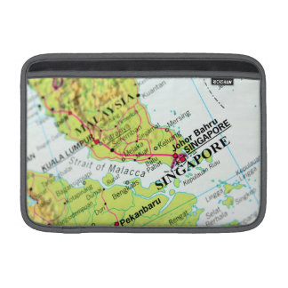 Mapa de Singapur Fundas Para Macbook Air