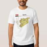 Mapa de Siria + Bandera + Camiseta del título Playera