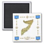 Mapa de Somalia + Imán de las banderas
