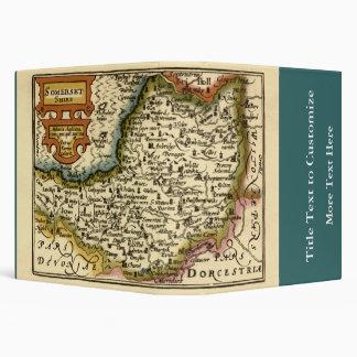 """Mapa de """"Somersetshire"""" el condado de Somerset, Carpeta 1 1/2"""""""