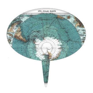 Mapa de South Pole Decoración De Tarta