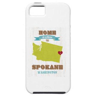 Mapa de Spokane, Washington - casero está donde el Funda Para iPhone SE/5/5s