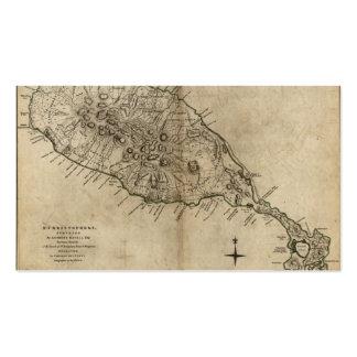 Mapa de St Christopher (St. San Cristobal), el Tarjetas De Visita