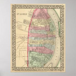 Mapa de St. Louis de Mitchell Impresiones