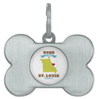 Mapa de St. Louis, Missouri - casero está donde el Placas Mascota