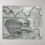 Mapa de St Petersburg, c.1750 Póster