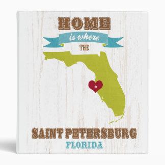 Mapa de St Petersburg la Florida - casero es dond