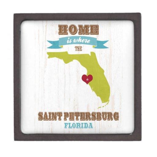 Mapa de St Petersburg, la Florida - casero es dond Cajas De Regalo De Calidad