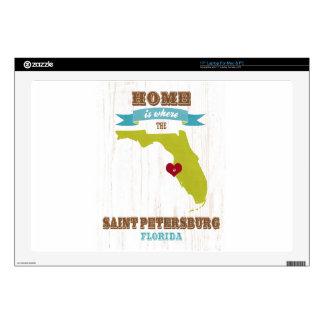 Mapa de St Petersburg, la Florida - casero es dond Calcomanía Para Portátil