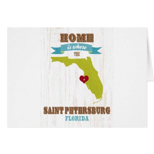 Mapa de St Petersburg, la Florida - casero es dond Tarjeton