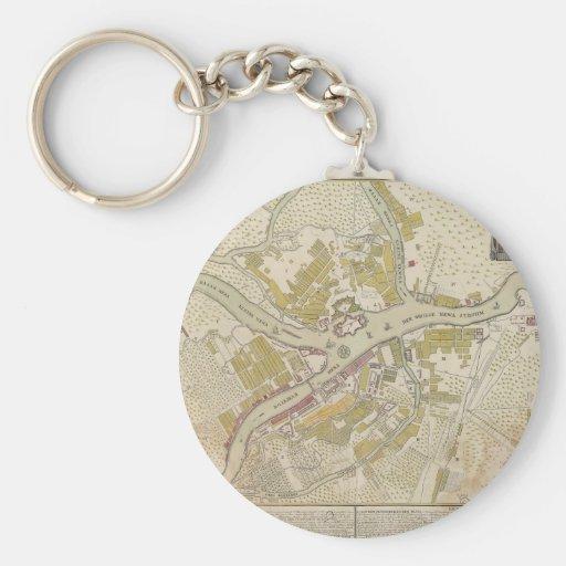 Mapa de St Petersburg, Rusia, creada en 1737 Llavero Redondo Tipo Pin