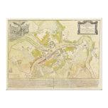 Mapa de St Petersburg Rusia hecho en 1737 Impresión En Lona