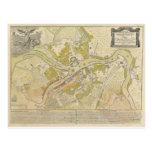 Mapa de St Petersburg Rusia hecho en 1737 Postal