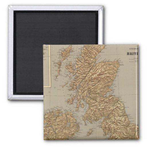 Mapa de Stereographical, islas británicas Imán Para Frigorífico