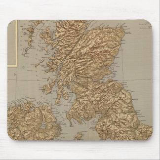 Mapa de Stereographical, islas británicas Tapete De Raton