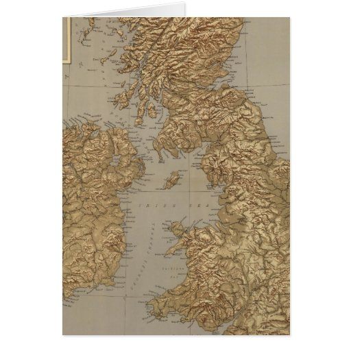 Mapa de Stereographical, islas británicas Felicitacion