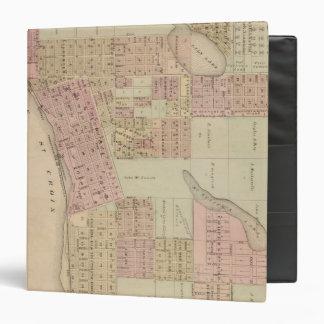 """Mapa de Stillwater, el condado de Washington, Minn Carpeta 1 1/2"""""""