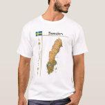 Mapa de Suecia + Bandera + Camiseta del título