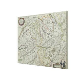 Mapa de Suiza Lona Envuelta Para Galerias