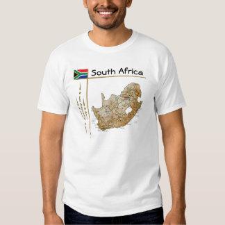 Mapa de Suráfrica + Bandera + Camiseta del título Poleras